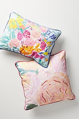 Slide View: 4: Paint + Petals Pillow