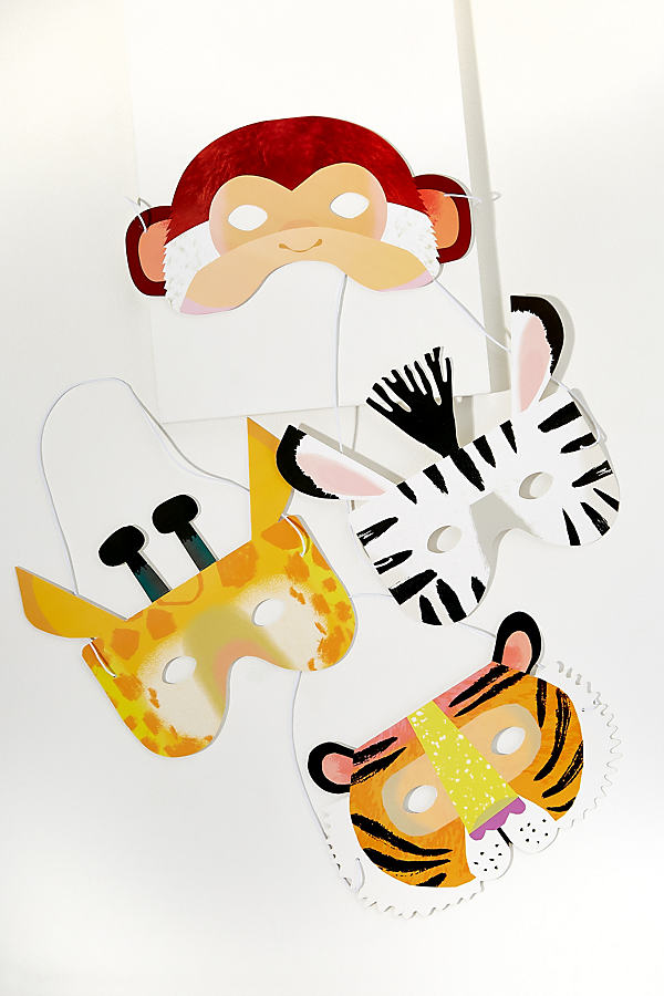 Pack of 8 Animal Masks - Assorted