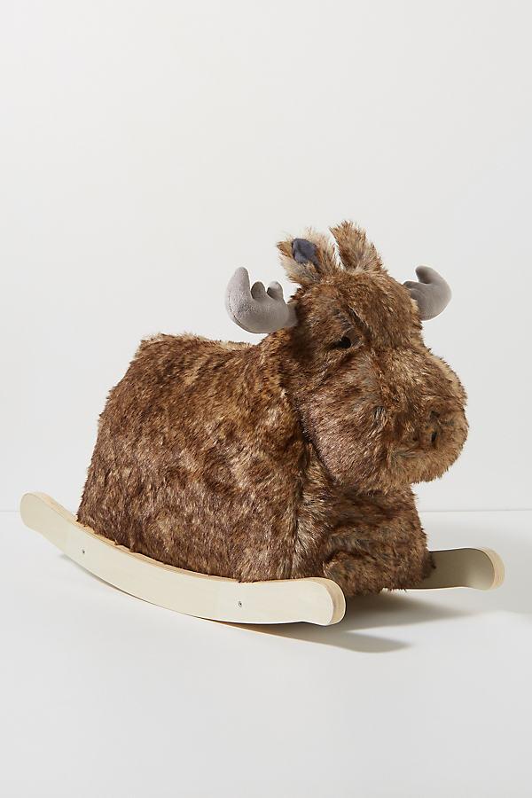Rocking Bo The Moose Toy - Brown