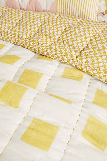 Slide View: 2: Block-Printed Mackenzie Quilt