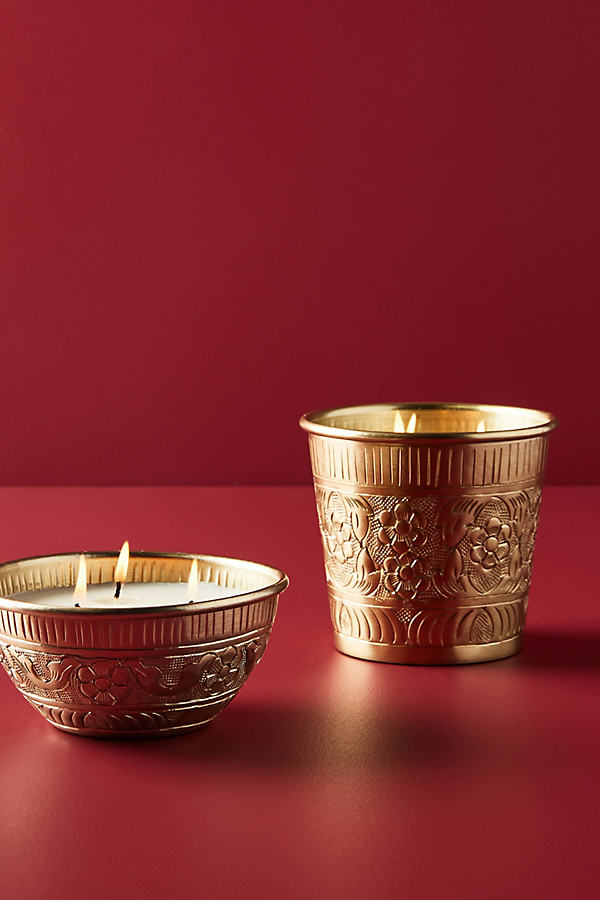 Marrakech Candle - Gold, Size M
