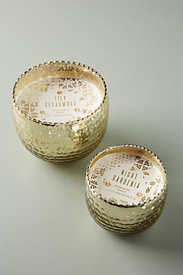 Slide View: 2: Hammered Mercury Glass Candle