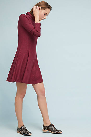 Brushed Fleece Mock Neck Dress