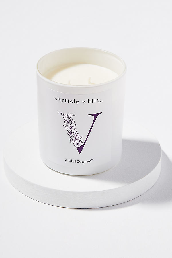 Article White Candles - Purple