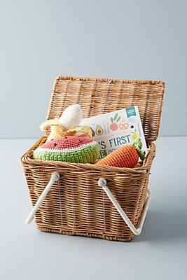 Slide View: 1: Wicker Picnic Basket