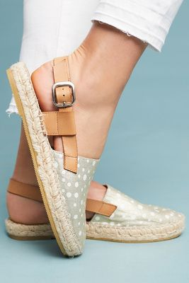 Anthropologie   Anthropologie Slingback Espadrilles  -    DENIM LIGHT