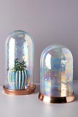 Slide View: 7: Iridescent Glass Cloche