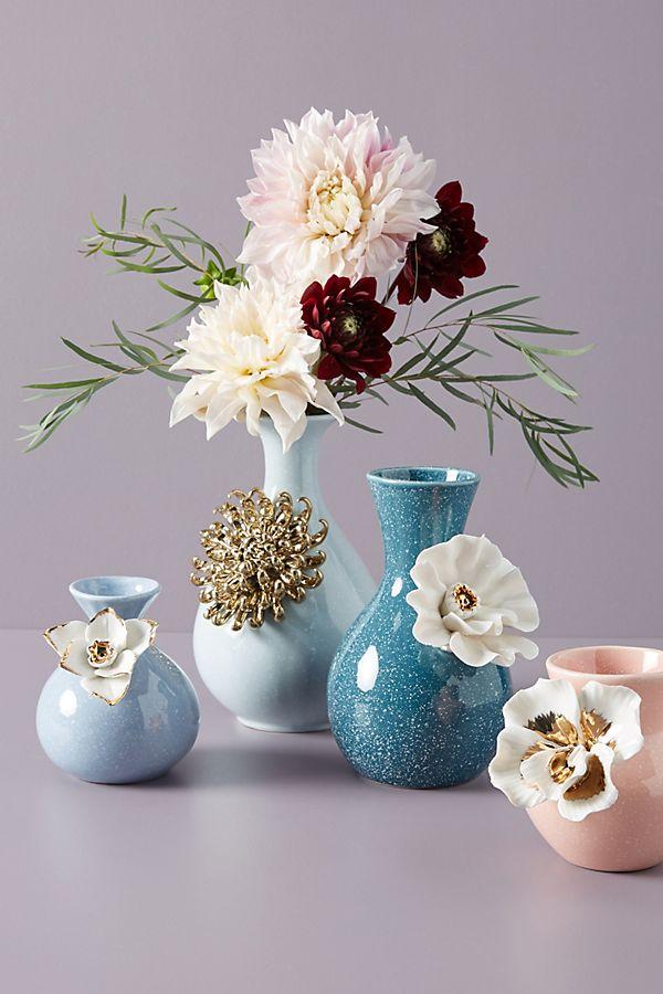 Slide View: 3: Gilded Bloom Vase