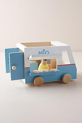 Slide View: 1: Wooden Food Truck Toy Set