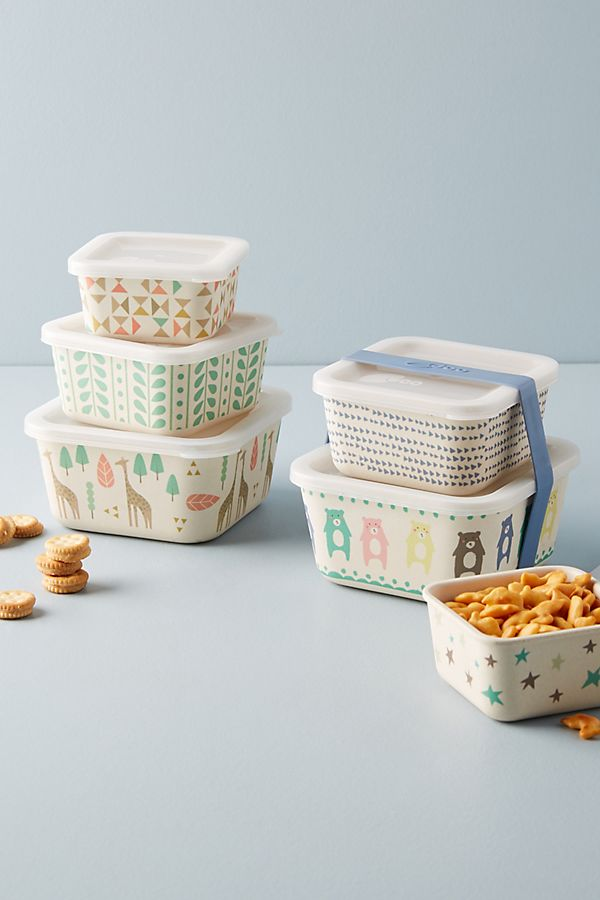 Slide View: 3: Bamboo Container Set