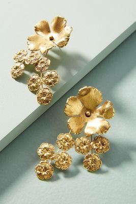 Jennifer Behr   Jasmine Cluster Earrings  -    GOLD