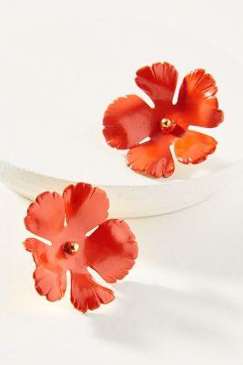 Jennifer Behr   Grace Post Earrings  -    RED