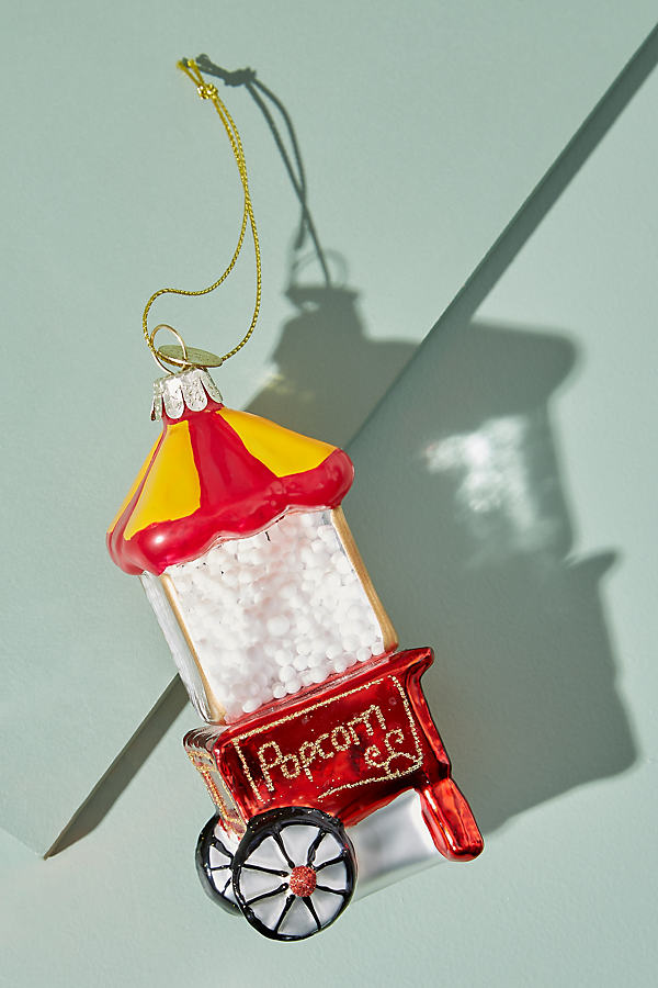 Popcorn Machine Ornament - Red