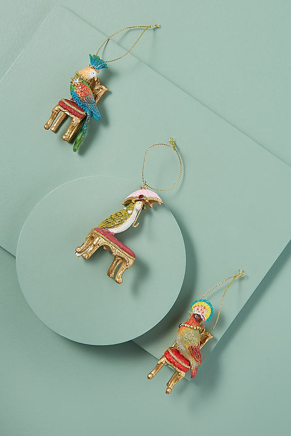 Set of 3 Parrot Decoration - Assorted