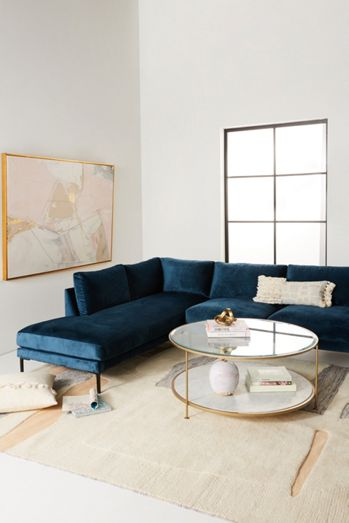 Unique Furniture Designer Furniture Anthropologie - Coffee table for couch with chaise