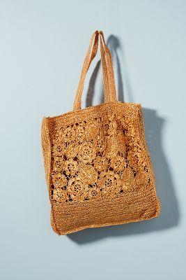 Antik Batik   Antik Batik Holea Raffia Tote Bag  -    BROWN