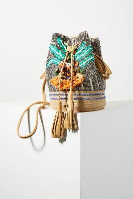 Antik Batik   Antik Batik Pallas Bucket Bag  -    BLUE