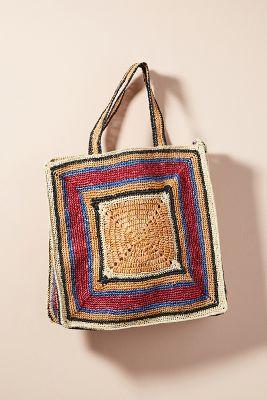 Antik Batik   Antik Batik Rufo Tote Bag  -    RED
