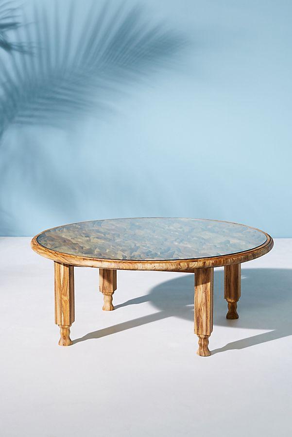 Carved Teak Indoor/Outdoor Coffee Table | Anthropologie