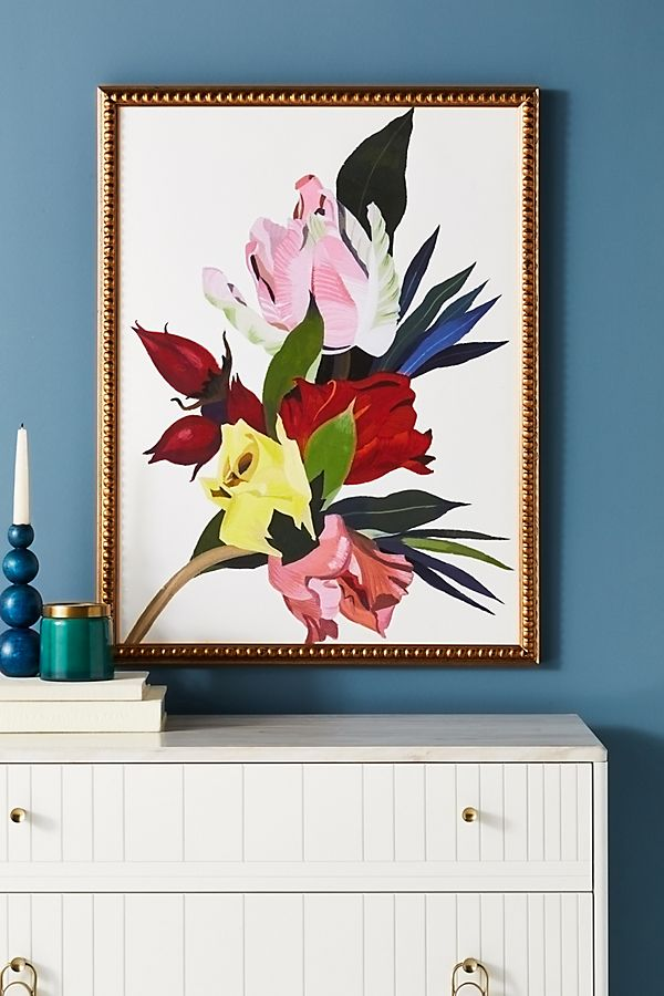 Slide View: 1: Roses Red Tulips Wall Art