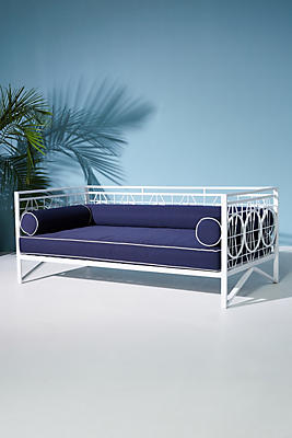 Slide View: 1: Poolside Indoor/Outdoor Daybed Cushion Set