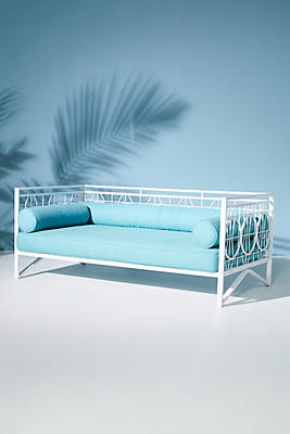 Slide View: 2: Poolside Indoor/Outdoor Daybed Cushion Set