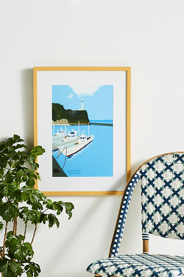 Slide View: 1: Fishing Lighthouse Wall Art