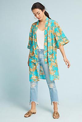 Slide View: 1: Filippa Silk Kimono