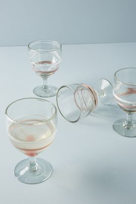 Pipiry Wine Glass Set by Anthropologie