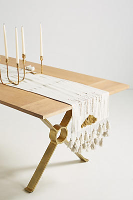 Slide View: 1: Gold Inflection Table Runner