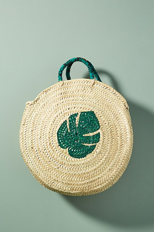Palm Leaf Circle Tote Bag