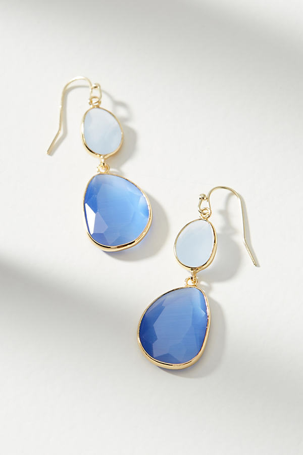 Yasmin Drop Earrings - Sky