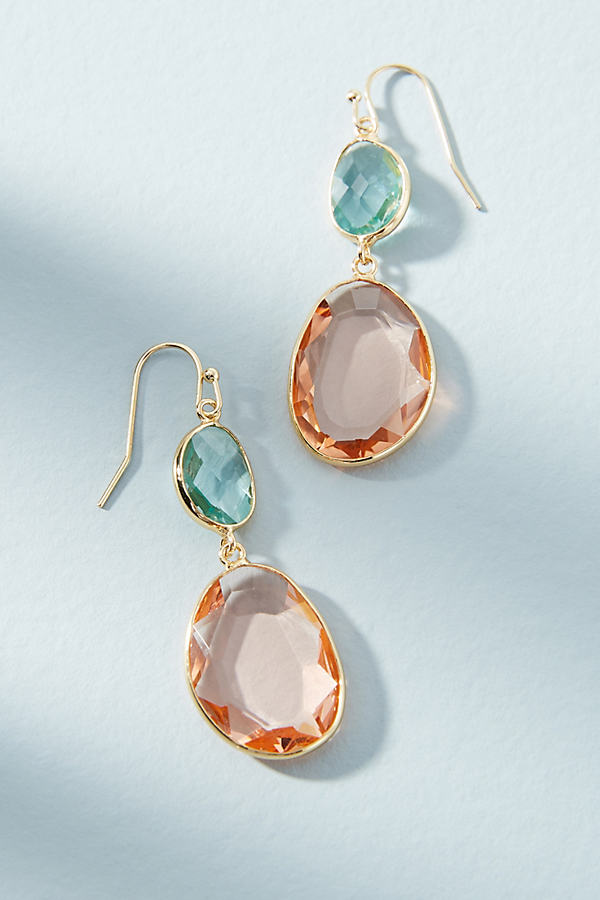 Yasmin Drop Earrings - Peach