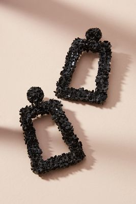 Sachin + Babi   Fleur Dusk Drop Earrings  -    BLACK