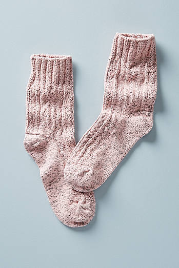 Pink Sweater Socks