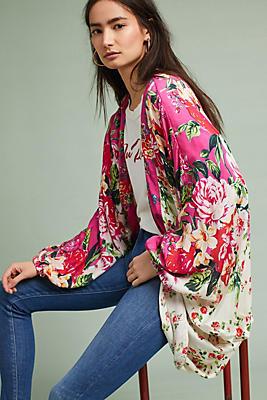 Slide View: 1: Field of Flowers Kimono