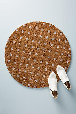 Slide View: 1: Polka Dot Doormat