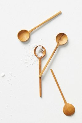 Teak Mini Spoon Set by Anthropologie
