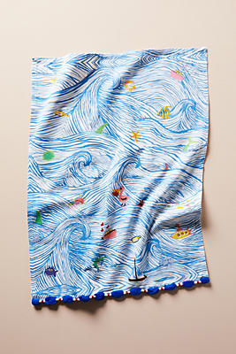 Slide View: 1: Sal Del Mar Dish Towel