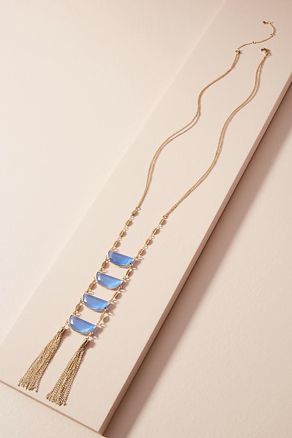 Cadence Ladder Necklace - Sky
