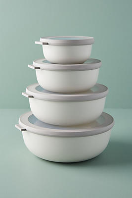 Slide View: 1: Rosti Mepal Cirqula Shallow Storage Bowl Set