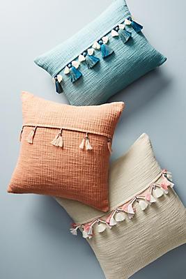 Slide View: 3: Varied Tassel Pillow