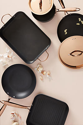 Slide View: 1: BergHOFF Rose Gold-Handled Cookware Set