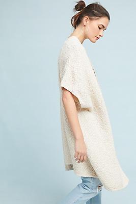 Slide View: 1: Open Knit Kimono