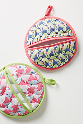 Slide View: 1: Sonrisa Potholder Set