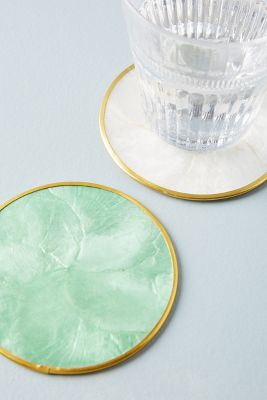 Pearlised Capiz Coaster by Anthropologie