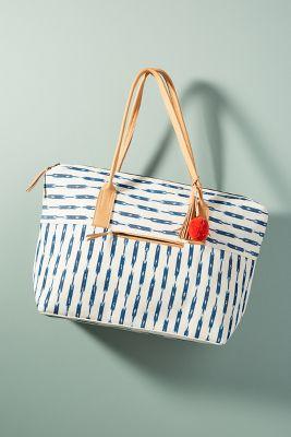 Mercado Global   Billie Striped Weekender Bag  -    WHITE