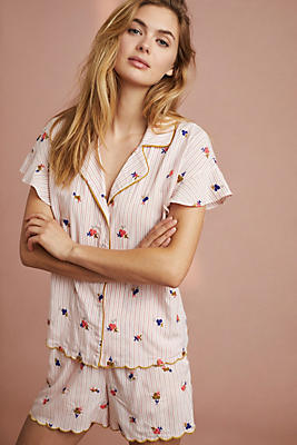 Slide View: 1: Bouquet Embroidered Sleep Top
