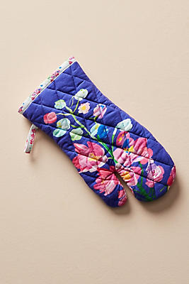 Slide View: 1: Paint + Petals Oven Mitt