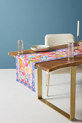 Slide View: 1: Paint + Petals Table Runner